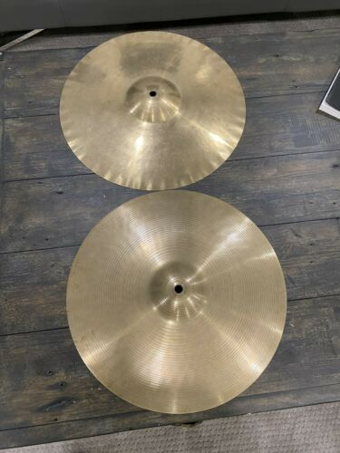 "Paiste 14"" Vintage Pre Serial Formula 602 Hi Hat Cymbals"