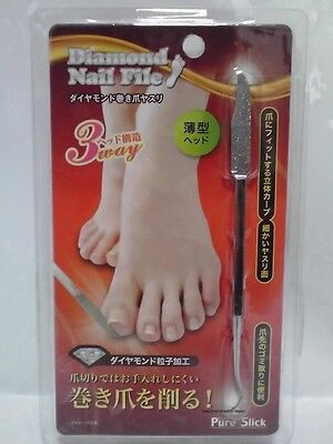 JAPAN NEEDS PURE SLICK DIAMOND FOOT-FEET NAIL/INGROWN CARE FILE BEAUTY