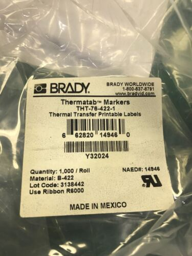 Brady THT-76-422-1 Thermal Transfer Printable Labels