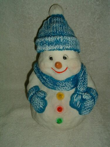 Animated Rubber SNOWMAN Singing Dancing Lights Sings Frosty the Snowman Xmas