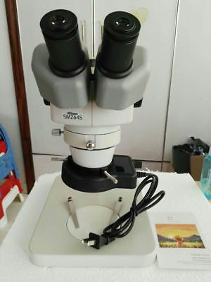 Nikon Smz645 Stereo Zoom Microscope Nikon 20x Eyepieces Lightstand