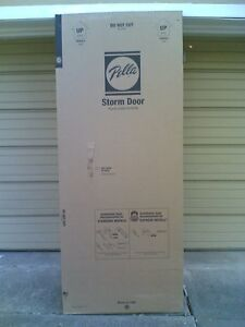 Nib Pella 32 X 80 High Storm Door With Full View Glass