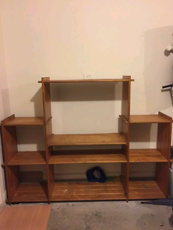 Pine wood tv cabinet size width 185cm x 145 cm