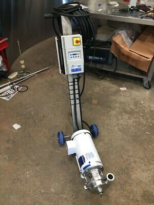 Lc Thomsen 4 Sanitary Pump Usa Leeson 1hp Motor Lenze Vfd And Usa Made Cart