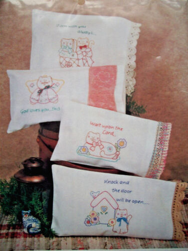 Cat kittens embroidery patterns Messages of love