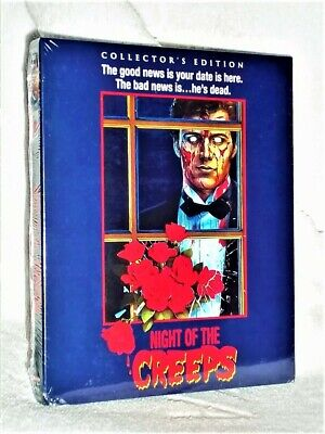 Night Of The Creeps (Blu-ray, 1986) NEW Tom Atkins Jill Whitlow Jason Lively