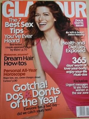 January 2002 Glamour Sexy Debra Messing On Sexy Cover Look