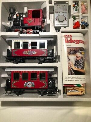 """LGB #22540 """"THE CHRISTMAS TRAIN"""" RED SET (NEW-NEVER RUN OR DISPLAYED) 1992"""