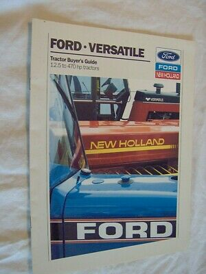 Ford New Holland Tractor Buyer Guide Dealer Sale Brochure Farm Lawn Garden Mower
