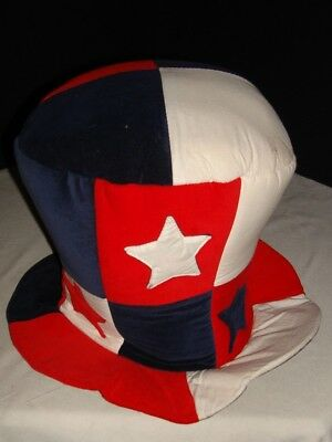 Mad Hatter Crazy (B-ZANY RED/WHITE/BLUE 4TH OF JULY FUNNY CRAZY MAD HATTER TOP HAT ONE)