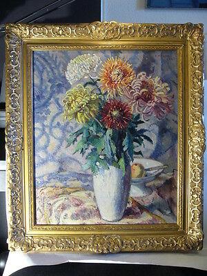 Jugendstil Art Deco Cesar Knapen Bukarest Geleen Stillleben Chrysanthemen Paris