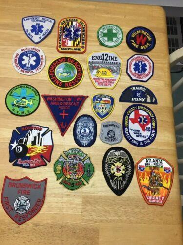 LOT OF 20  FIRE DEPT SHOULDER  PATCHES   FD-01
