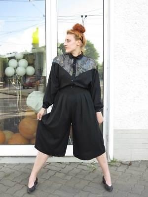 Damenhose Hosenrock Bundfaltenhose schwarz 90er True VINTAGE 90s trousers black