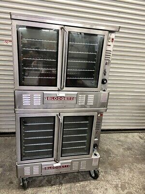 Gas Convection Oven Bakery Depth Blodgett Gzl10 Double Stack Nsf 5215 Commercial