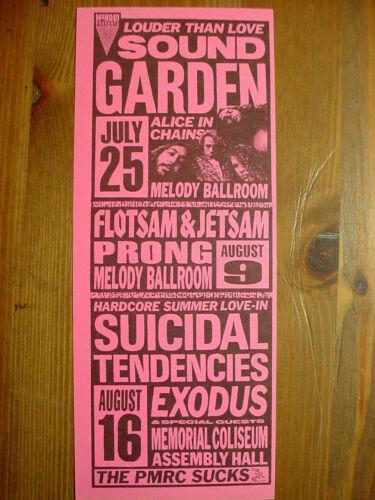 1991 SOUNDGARDEN, SUICIDAL TENDENCIES, ALICE IN CHAINS PORTLAND HANDBILL M- COND
