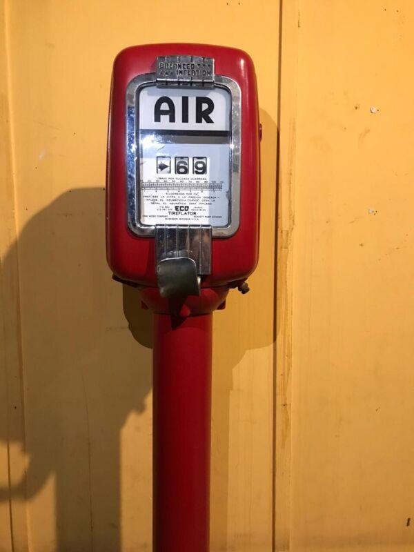 VINTAGE ECO TIREFLATOR ORIGINAL AIR METER 98 GAS OIL MEMORABILIA COLLECTIBLE