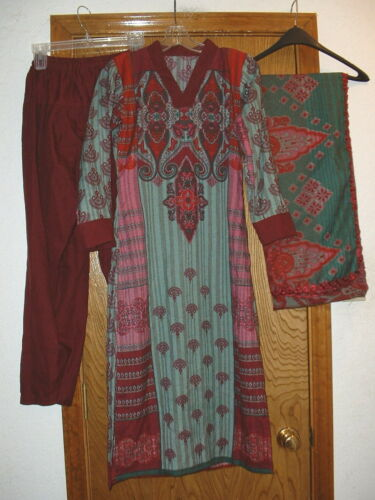 Womens/Girls 3 Piece Indian/Pakastani Salwar Kameez Cotton Dress