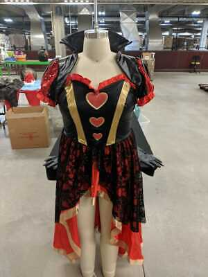 WOMEN'S PLUS SIZE QUEEN OF HEARTS COSTUME SIZE 2X