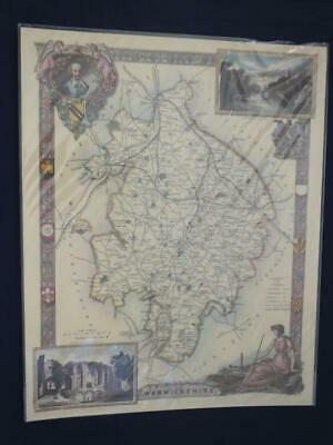 Reproduction Antique Map of Warwickshire16 x 20 inches.