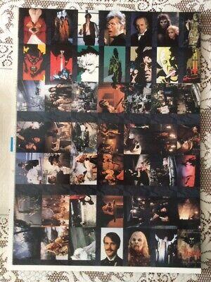 1992 Topps Bram Stoker's Dracula Uncut Prototype Card Sheet ~ White Backs