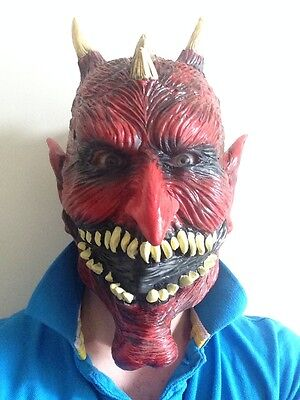 Halloween Mask Movie Quality (Devil Mask Diablo Love Hate TV Series Halloween Movie Quality Fancy Dress)