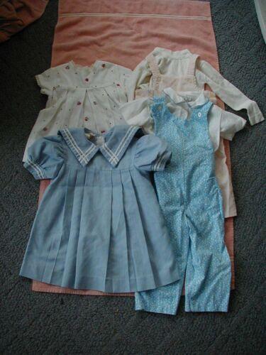 lot 4 vintage toddler girls dresses overalls pants sets sailor dress 1950s 1960s
