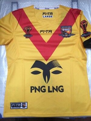 PNG World cup 17 XL NRL rugby league shirt