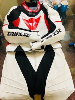 Motorbike leather suit racing suit leather gear riding suit All Size Red Dainese