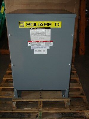 Square D Dry Type 25kva Transformer 25s3hnv Hv240 X 480 Lv120240 600 Volt New