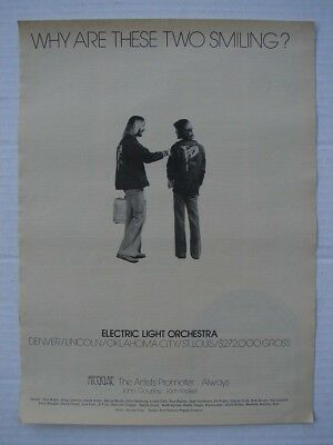 ELECTRIC LIGHT ORCHESTRA ELO 1977 FULL PAGE AD OUT OF THE BLUE W/TOUR DATES