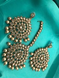 Indian pakistani Gyny ladies Jewellery necklace choker earring