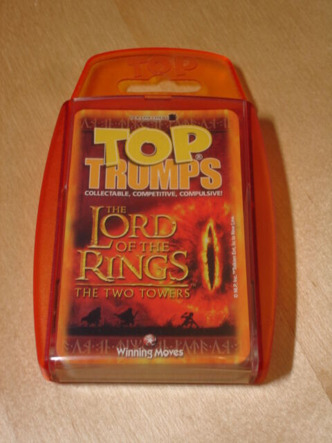 Top Trumps LOTR The Two Towers, 30 Game Cards, Winning Moves, Lord Of The Rings