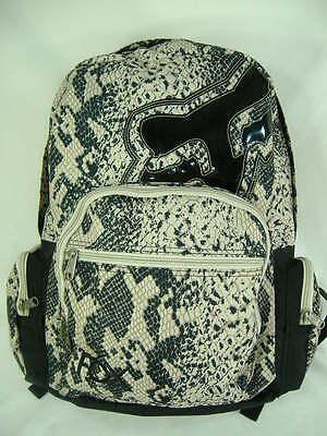 New Womens Girls FOX RACING Riders Snake Tan Black Backpack Book Bag Last Units ()