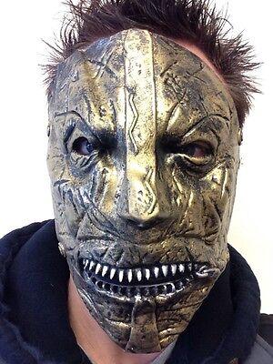 slipknot corey Maske Latex Reißverschluss Gesicht Maden Kostüm Metall (Reißverschluss Gesicht Kostüm)