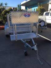 Gal 7x4 Trailer package with Mower Pad Ramp and Toolbox Meadowbrook Logan Area Preview