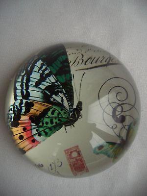 Zauberhafter*Glas*Paperweight*Briefbeschwerer*Butterfly ()