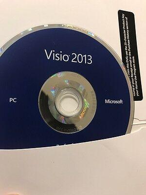 Microsoft Visio Professional 2013   Brand New   32 Bit And 64 Bit