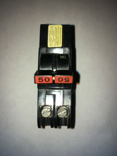 Federal Pacific FPE Stab Lok Thin 2 Pole Double 50 Amp 240V Breaker