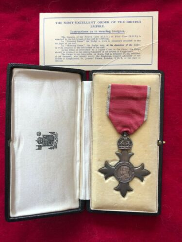 Member of the British Empire, MBE, civil decoration