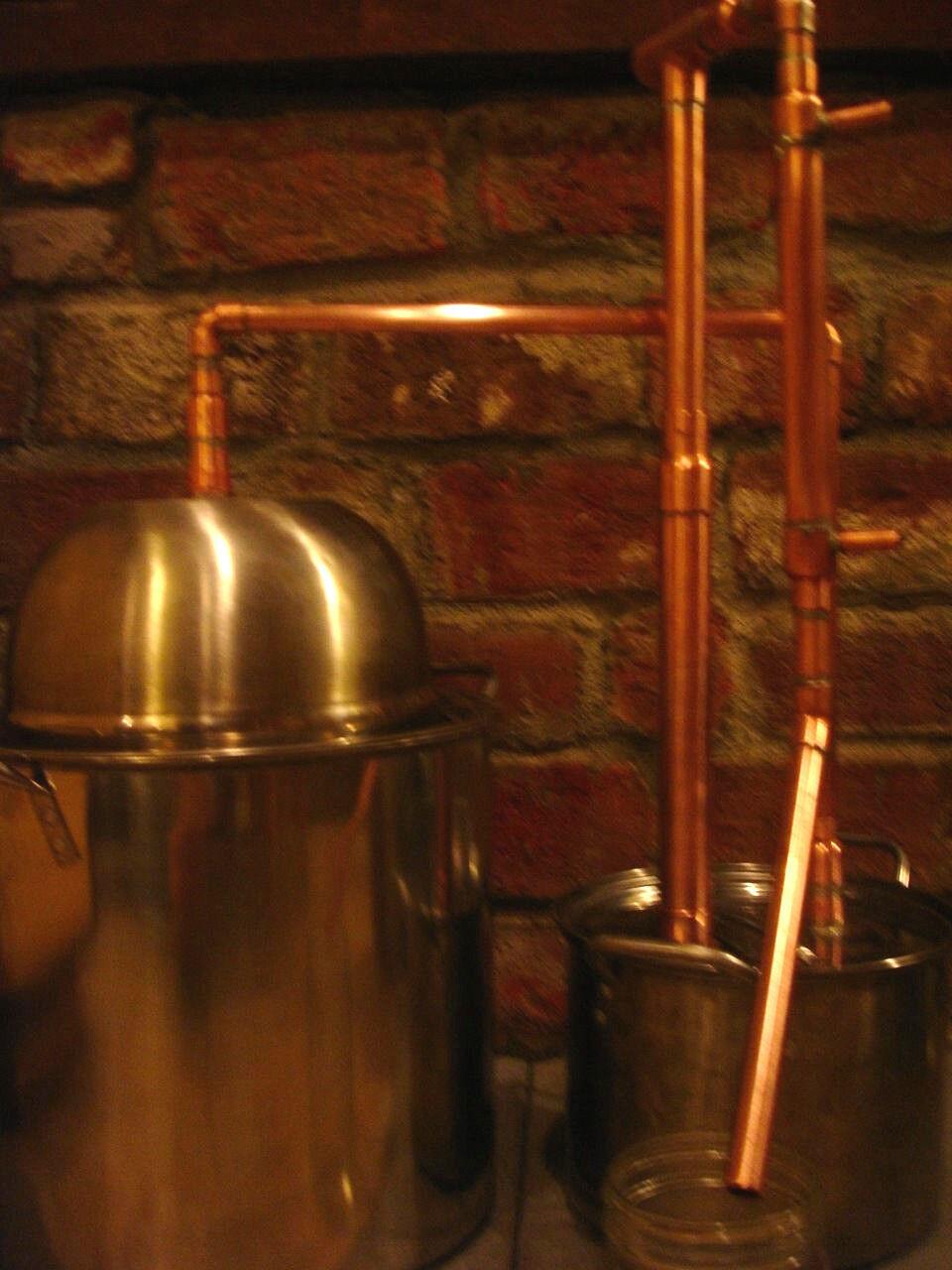$194.99 - DELUXE REFLUX 5 Gallon Distiller Moonshine Copper Still Stainless Boiler Thumper