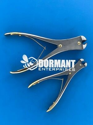 Tc Cannulated Pin And Wire Cutter 9 And 6 Gold End Orthopedic Instruments