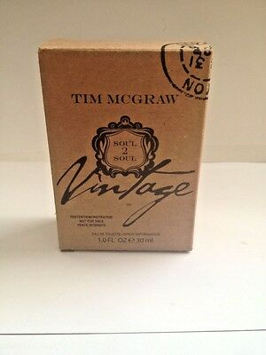 Tim Mcgraw Soul 2 Soul Vintage  1 Oz Edt Spray For Men New In Tester Box