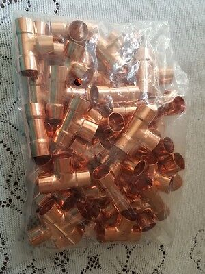 12 Copper Tee Fitting Cxcxc40pcs Copper Tee Plumbing Fittings Ship From Usa