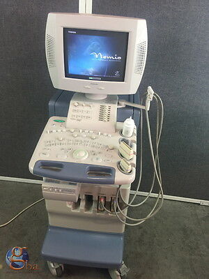 Toshiba Nemio 20 Ssa-550a Ultrasound 2 Probes Transducers Plm-1204at Plm-805at