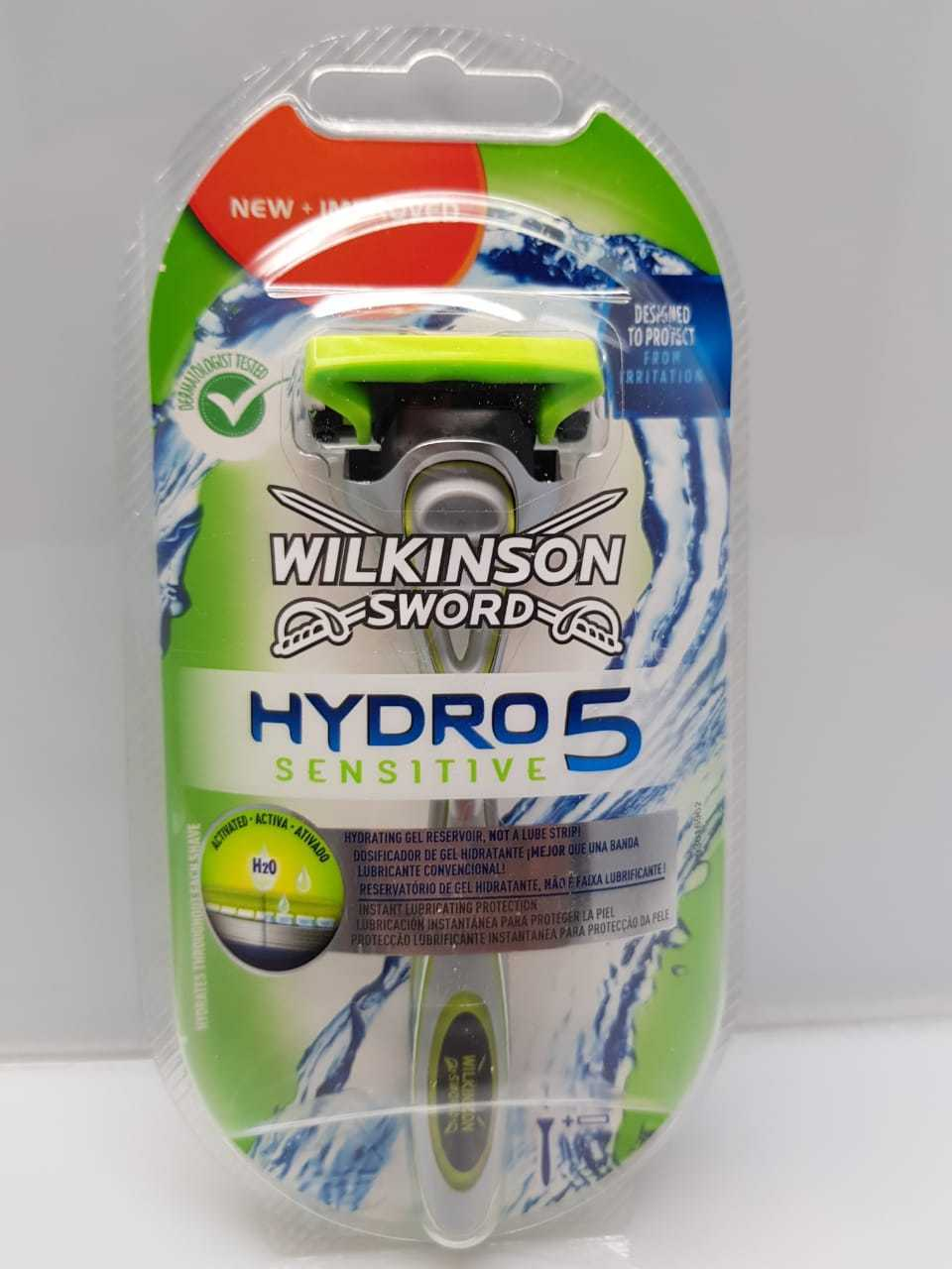 3 Wilkinson Sword Hydro 5 Sensitive  Klingen  + Rasierer NEW+OVP