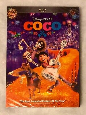COCO DVD ONLY Brand New Disney Pixar Free Shipping Rated PG 2017