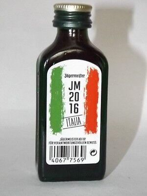 Jägermeister mini flaschen  EM 2016 JM Italia Sonderedition 0,02 ml 35% vol