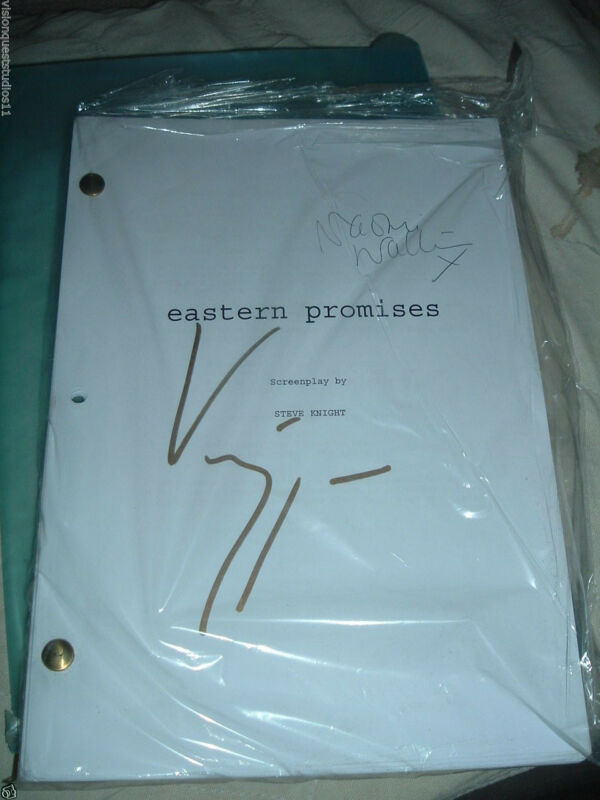Eastern Promises Original  Script SIGNED X2 Naomi Watts and Viggo Mortensen