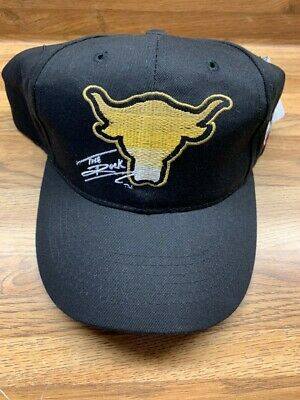 free shipping 964df b5a70 THE ROCK WWF WWE Vintage Brahma Bull Baseball Hat Cap Boys NEW WITH TAGS