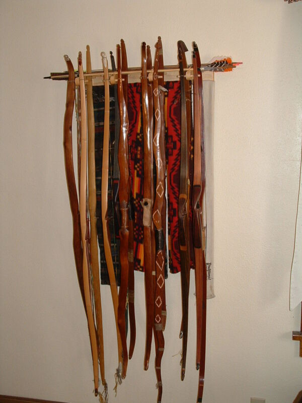 traditional bow rack holds 16 bows